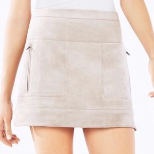 Bcbgmaxazria Desyree Faux Suede Skirt